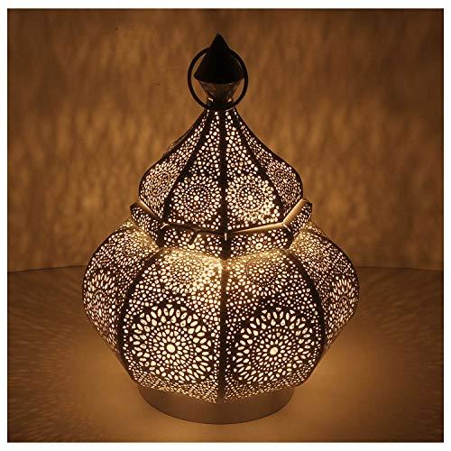 Casa Moro Orientalische Laterne aus Metall Abir Schwarz 30cm | Marokkanisches Windlicht Gartenlaterne | hängend oder stehend | Schöne Tischlaterne für Hochzeit Feier Dekoration LN2040