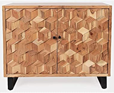 Jofran Geometrix Accent Cabinet, 43'', Natural