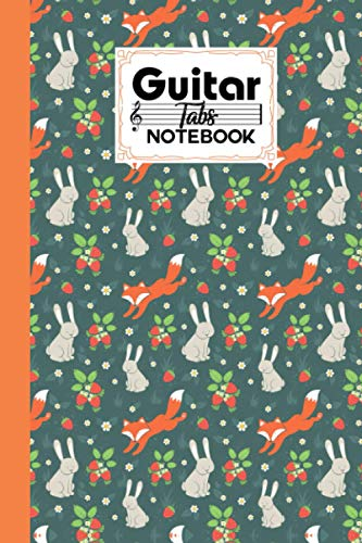 Guitar Tab Notebook: Rabbits And Fox Cover Guitar Tab Notebook, Music Paper Notebook, Blank Guitar Tablature Music Note, 120 Pages - Size 6