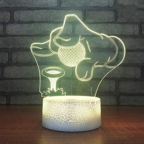(Nur 1) Basketball Billard Fußball 3D Nachtlicht Neuheit Produkte LED Nachttisch 3D Lampen Neuheit USB Urlaub Geburtstagsgeschenke für Jungen Heimtextilien