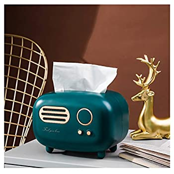 HASPINH Retro Radio Shape Tissue Box Cover Practical and Cute for Kitchen,Bathroom Vanity Countertops Bedroom Dressers,Night Stands Desks and Tables Creative Gift  Retro Radio
