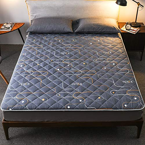 yangdan Colchoneta de futón japonesa, alfombrilla de tatami, rollo de cama japonés, colchón plegable enrollable, cama enrollable, almohadilla para colchón (color: C, tamaño: 0,9 × 2 m)