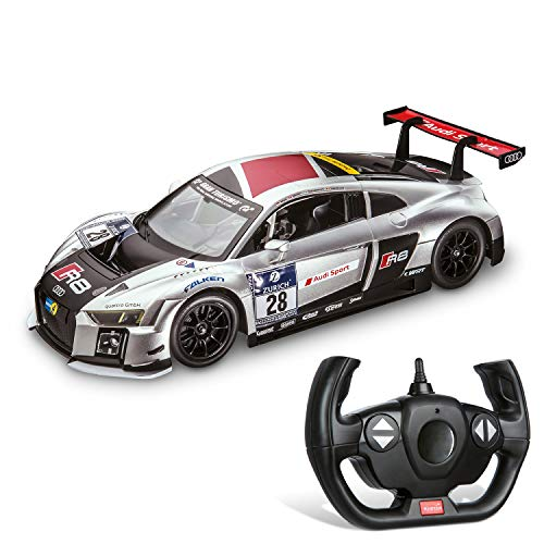 Mondo - Audi R8 LMS Veicolo Radiocomandato, Grigio, scala 1:14, 63385