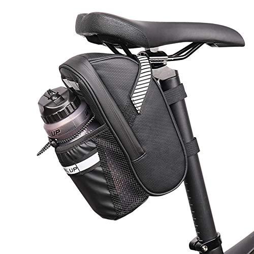 GY-Lmap Bolsa de sillín de Correa de Bicicleta/Bolsa de Asiento de Bicicleta, Bolso de hervidor, Impermeable, Paquete de Asiento de Ciclismo para Bicicletas de Carretera de montaña, Negro