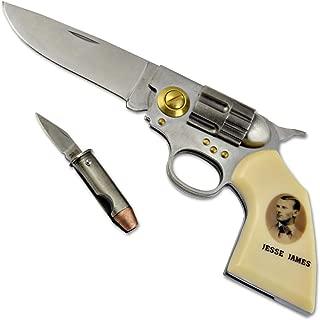 Jesse James Legends of the West Gun Knife - 2 7/8