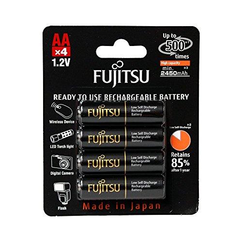 4 Pilhas AA Recarregáveis 500x da Fujitsu Premium (= Eneloop Pro) com 2550 mAh