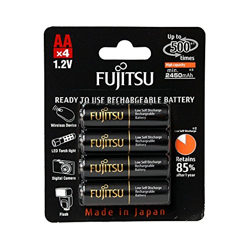 Fujitsu AA NiMH 2450mAh batterie ricaricabili Battery Pack di–hr-3uthcex (4B)