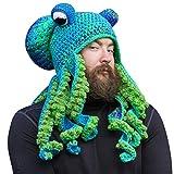Surakey Octopus Beanie Hut,Handgewebte Gestrickte Oktopus Mütze,Erwachsene Unisex Winter Warm Strickmütze Lustige Lange Tentakel Skimütze Kostüm Hüte für Weihnachten Halloween Kostüm...