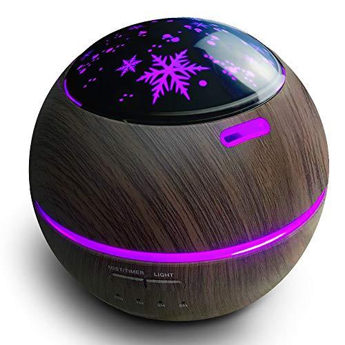 Aroma Diffuser ätherische 150ml Ultra Leise Luftbefeuchter für Öle Star Projector Nachtlicht, Luftreiniger einstellbarer Nebelmodus, wasserloses Auto-Off, mit 8 Farben LED für Baby, Schlafzimmer
