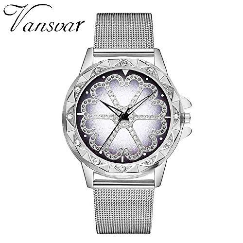 DSNGZ Montres Bracelet Simple Fashion Ladies Watch Mesh avec Quartz Montre Rose Or Filles Or Dames Fleurs Robe De Noël Cadeau 533