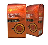 BARISSIMO Breakfast Blend 100% ARABICA Ground Coffee 2-12oz Pack / One-way Freshness Valve Package (Breakfast Blend, 2 Count)