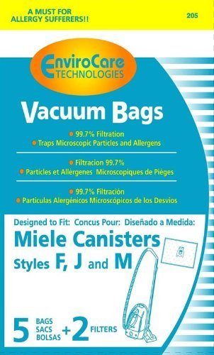 EnviroCare Replacement Bags for Miele F J M Microfiltration Vacuum Bags - 10 Bags + 4 Filters