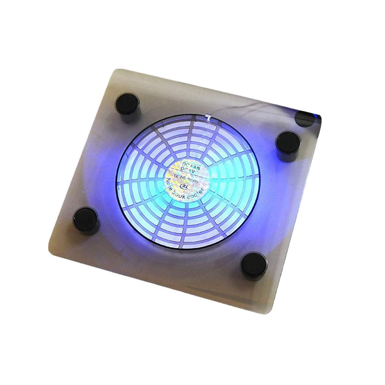 F-blue USB Notebook Cooler Blue LED Light Heatsink Laptop PC Base Computer Cooling Pad Heat Dissipation Bracket