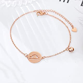 CXQ Personality Fashion Temperament Anklet Hollow Libra Rose Gold Foot Ring Jewelry