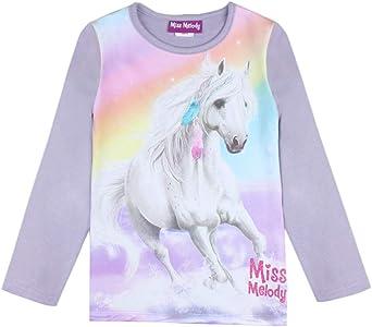 Miss Melody Niña T-Shirt, Manga Larga, Violeta