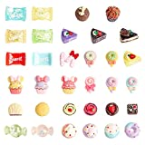 PH PandaHall 50pcs Candy & Cake Resin Cabochons Mixed Color Candy Sweets Flatback Slime Charms Cute Set for DIY Craft Making and Ornament Scrapbooking