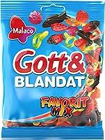 Malaco Gott&Blandat ゴット ブランダット Favorit MIx グミ フルーツ味 140g×1袋セット スゥエーデンのお菓子です  [並行輸入品]