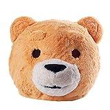 Disfraz de oso de oso de peluche con cabeza de mascota de peluche para adultos