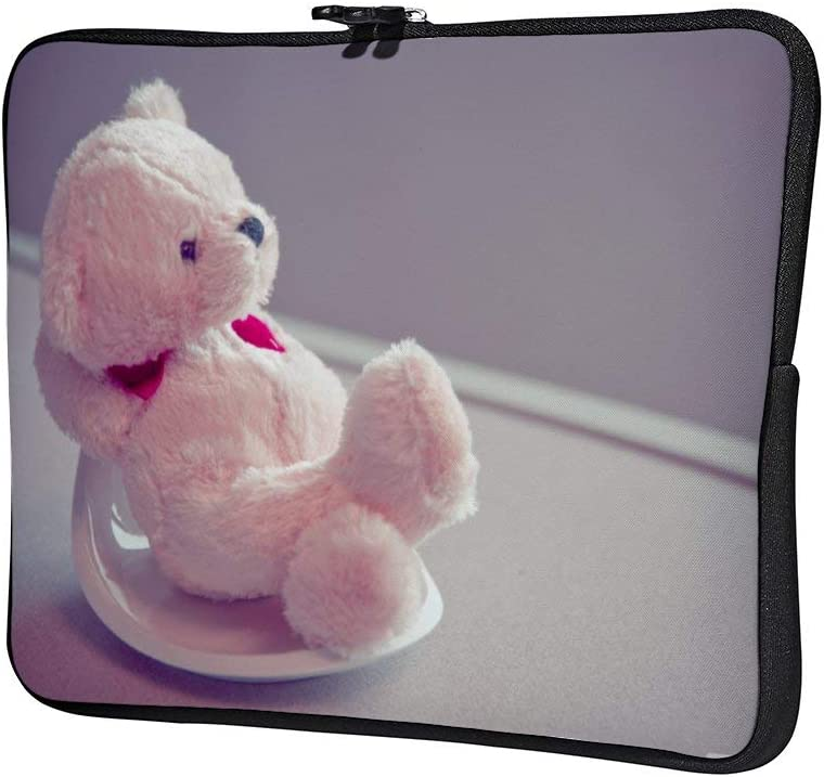 Furry Bear Doll 12 Inch Protective Laptop Sleeve Ultrabook Notebook Carrying Case Compatible with MacBook Pro MacBook Air Tablet Briefcase Bag