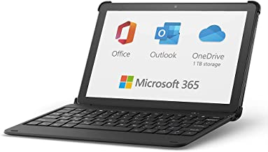 All-new Fire HD 10 tablet, 32 GB, Black + Bluetooth keyboard + 12-month Microsoft 365 Personal subscription