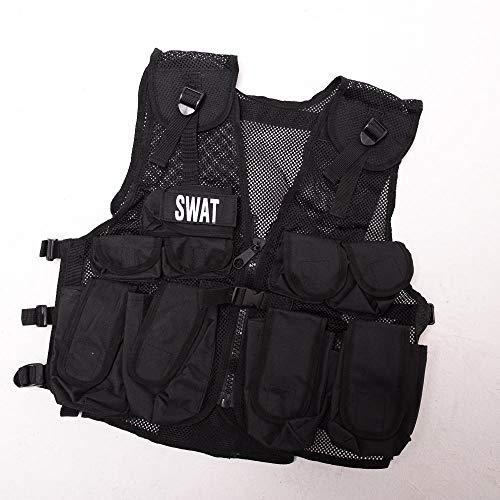Kinder Special Forces Stealth Combat Vest SWAT + Special Forces Abzeichen