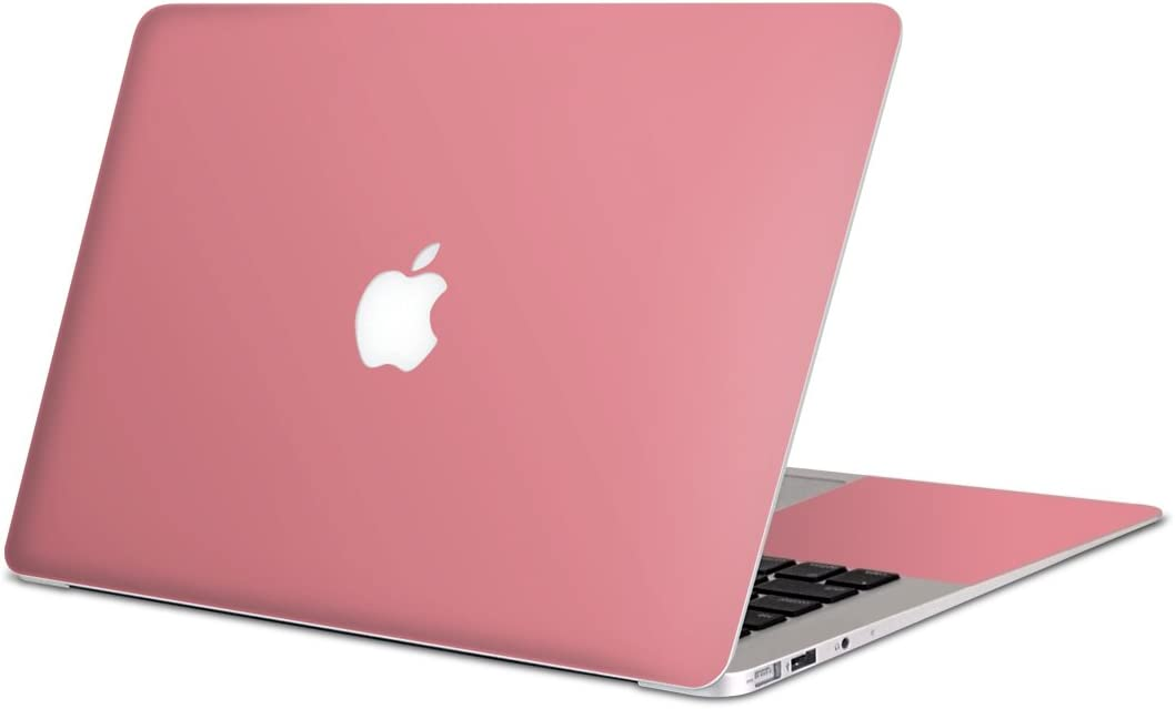 igsticker Skin Decals for MacBook Pro 15 inch 2019/18/17/16(Model A1990/A1707) Ultra Thin Premium Protective Body Stickers Skins Universal Cover Simple Plain Pink