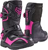 2017 Fox Racing Kids Comp 5K Boots-Black/Pink-K10 by Fox Racing
