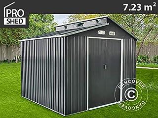 Dancover Caseta de jardín metálica con claraboya, 2, 78x2, 6x2, 34m, Antracita: Amazon.es: Jardín