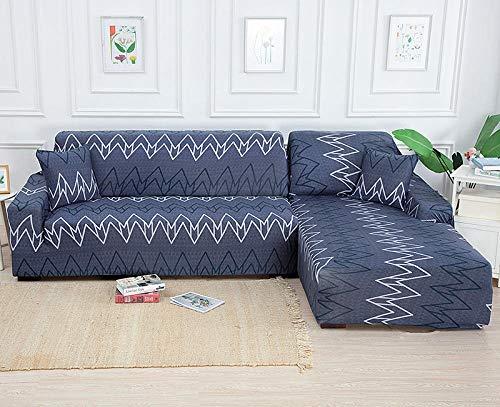 Gramke Fundas de sofá elásticas Funda elástica para sofás Fundas de sofá de Esquina Fundas seccionales en Forma de L Protector de Muebles para Sala de Estar-SLQH_1 plazas 90-140cm