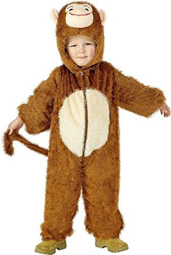 Enfants garçons Filles Singe Combinaison Pantalon Animal Livre DE LA Jungle Jour déguisement Halloween déguisement - Marron, 4-6 Years