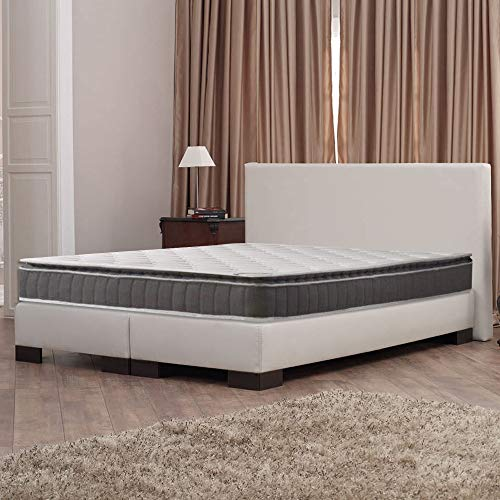 Spinal Solution 10-Inch Medium Firm Foam Encased Pillowtop Pocketed Coil Innerspring Fully Assembled Mattress, Good For The Back Queen