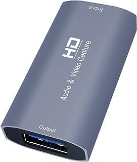 MERIGLARE Dispositivo HD USB Audio Video Capture Card 4K, para gravação de transmissão ao vivo e ensino, compatível com Wi...