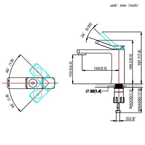 Homelody – Design-Waschbeckenarmatur, Einhebelmischer, ohne Ablaufgarnitur, Weiß - 7