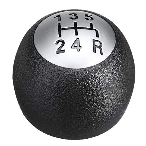 LuckyMao Automobil-Schaltknauf 5 Geschwindigkeit Auto MT Schaltknauf Lever Shifter Handball Kunststoff-Sitz for Alfa Romeo 147 1.9 JTD Schaltknauf