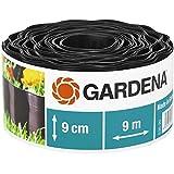Gardena Beeteinfassung 9 cm hoch: Ideale Beet-Eingrenzung, auch für Rasenkanten, 9 m, gegen Wurzelausbreitung, Kunststoff, braun (530-20)