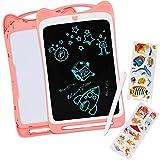 """deAO Tableta Gráfica LCD de 12"""" Actividades Creativas y Aprendizaje Escritura y Dibujo Pad con Pantalla Táctil, Función de Bloqueo y Lápiz Incluido (Rosa)"""