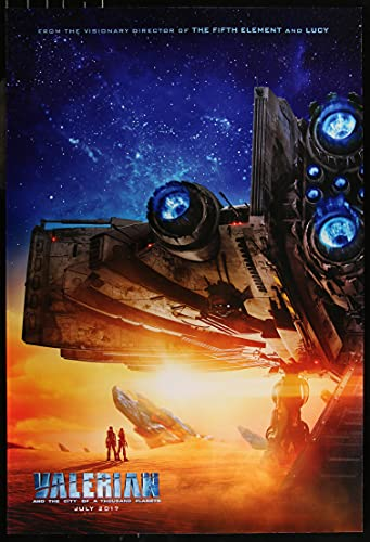 """VALERIAN AND THE CITY OF A THOUSAND PLANETS 2""""7x40"""" D/S Original Movie Poster One Sheet GLOSSY 2017"""