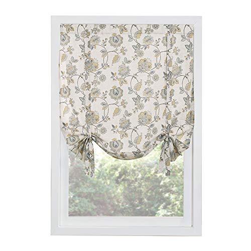 """Painel de cortina de janela floral Collections Etc Colette com ilhós na parte superior para fácil pendurar – Decoração de casa para qualquer cômodo, Linen, 44"""" X 63"""", 1"""