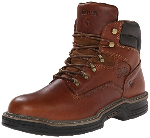 WOLVERINE mens Raider 6″ Work industrial and construction boots, Brown, 9.5 US