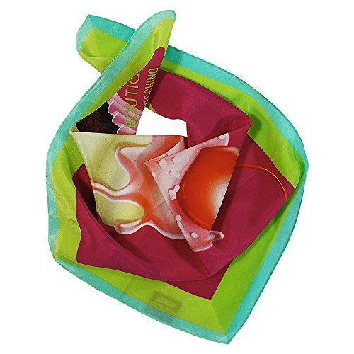 Moschino Pañuelo de seda Cupcake, pequeño, multicolor, aprox. 48 x 48 cm.