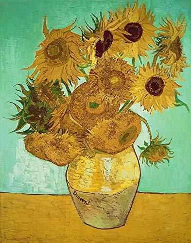 Rompecabezas 1000 Piezas Adultos De Madera Niño Puzzle-Girasol Van Gogh-Juego Casual De Arte DIY Juguetes Regalo Interesantes Amigo Familiar Adecuado