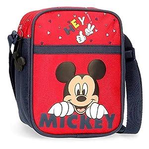 51sgYFQzStL. SS300  - Disney Bandolera Happy Mickey, Rojo
