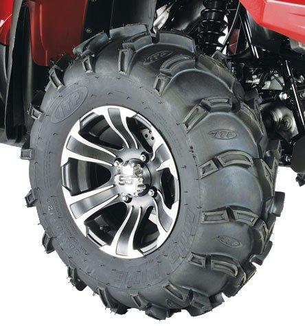 ITP Mud Lite XL, SS312, Tire/Wheel Kit - 26x10x12 - Matte Black/Machined 44279L