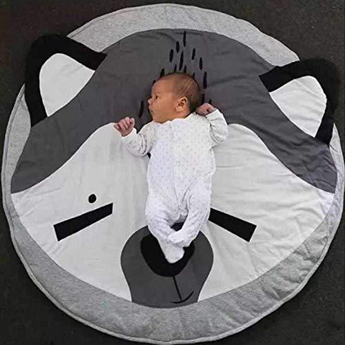 HIL Couverture Baby, Baby Tapis De Jeu, Gym Tapis Coton, Playmat Activité Gym Tapis De Sol pour Tout-Petits Enfants Doux Sleeping Mat Crawling Tapis Blanket Sol avec Cute Animal,Fox
