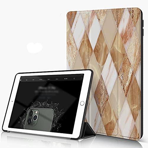 She Charm Funda para iPad 9.7 para iPad Pro 9.7 Pulgadas 2016,Fondo de patrón de diseño de Azulejos de mármol de Pared y Piso para Edificios,Incluye Soporte magnético y Funda para Dormir/Despertar