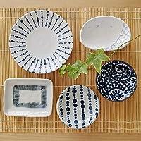 豆皿セット 小鉢 小皿 和食器 ブルー ホワイト系 美濃焼