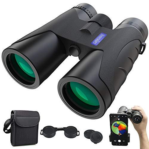 Fernglas 12x40 HD Anti-Fog Ferngläser mit Nachtsicht-Funktion | BAK4 Prismen FMC Binoculars mit Tragetasche und Mobiltelefonadapter Outdoor Teleskop für Tierbeobachtungen,Wandern,Jagd