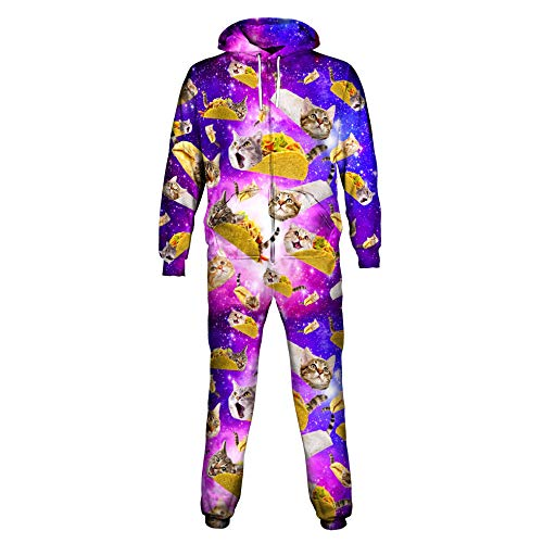 Tacos and Cats Purple Onesie  On Cue Apparel
