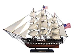 Not model ship kit Built from scratch by master artisans Fully assembled High quality woods cherry birch maple and rosewood Gun ports cut into hull Authentic scale lifeboat Shop Amazon for all our products over 3000 unique nautical items available Bu...