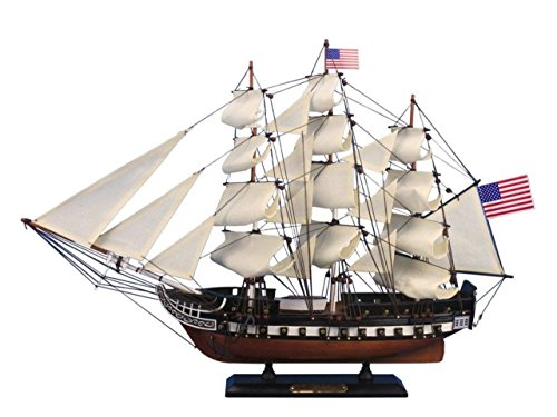 Hampton Nautical Wooden USS Constitution Tall Model Ship, 24